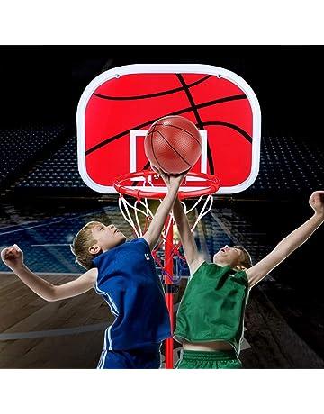 Weiyiroty Tablero de Baloncesto para Interior de Net Ball Tablero de Baloncesto para el hogar para ni/ños Juguete de Tablero de Baloncesto con Bomba de Aire