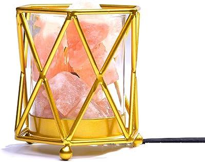 Wansheng - Lámpara De Sal De Cristal del Himalaya Hermosa Lámpara ...