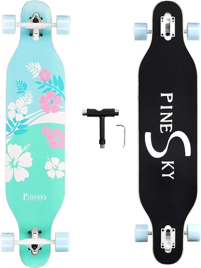 PINESKY 41 Inch Longboard Skateboard