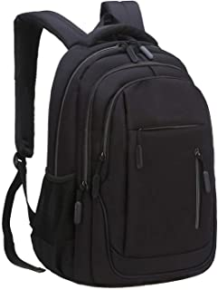 Travel Laptop Backpack, Water Resistant College School Computer Bag Gifts for Men & Women Fits 15.6 Inch Notebook, Black