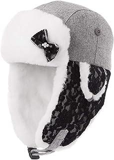 PLL 秋冬甘い灰色の帽子女性のスキーキャップ厚手の暖かい耳あてファッションエアキャップ