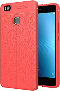 ESYI AYSMG For Huawei P9 Lite Litchi Texture TPU Protective Back Cover Case(Black) (Color : Red)