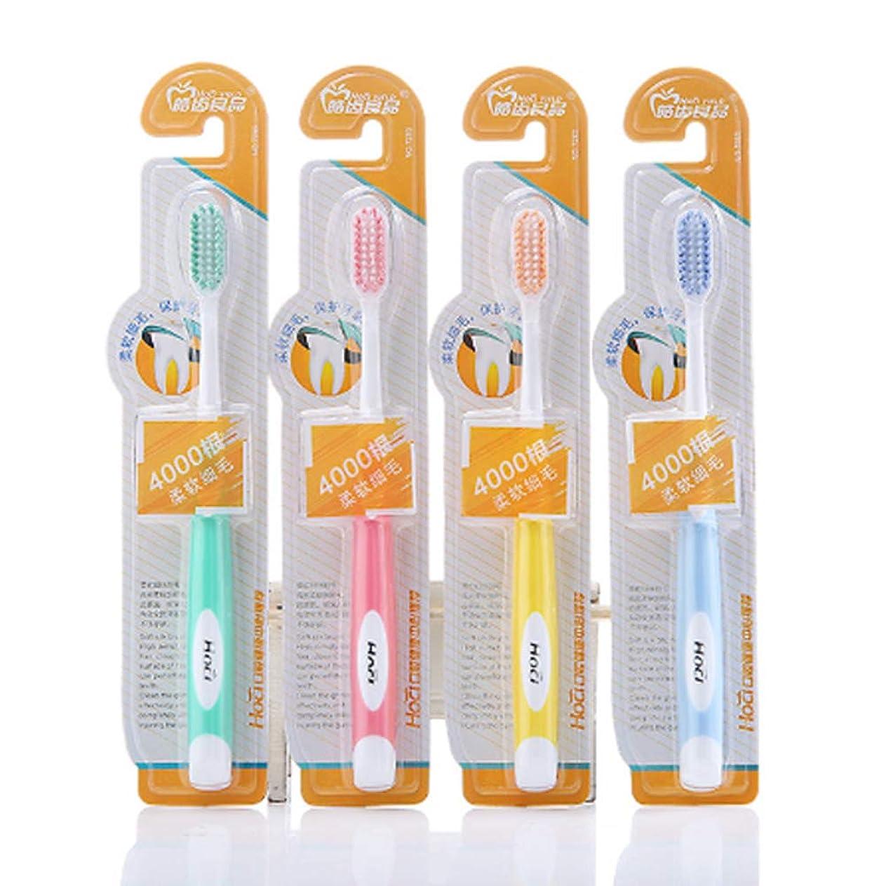 可能裏切るおとなしい成人用、手動用歯ブラシ、シングルパック用歯ブラシ、残留物の効率的な清掃、W字型デザインは歯の形状にフィット