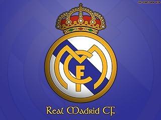 Canvas Corp Póster del Escudo Real Madrid del Club de fútbol tamaño A1, 86,36 x 60,96 cm