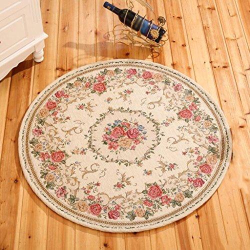 Hh001 Tappeto Circolare Stile Europeo/Zerbini/Tappeti per Scale/Tappeti per camere da Letto del Soggiorno (Color : 90CM)