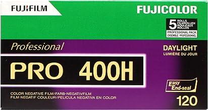 Fujifilm 16326119 Fujicolor Pro 120, 400H Color Negative Film ISO 400 - 5 Roll Pro Pack (Green/White/Purple)