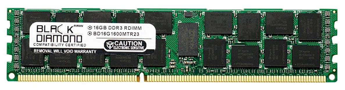 16GB Memory RAM for HP ProLiant Series DL380p G8 240pin PC3-12800 1600MHz DDR3 ECC Registered RDIMM Black Diamond Memory Module Upgrade