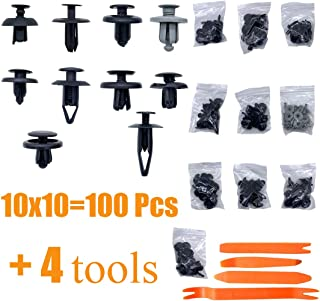 Tata.Meila 100Pcs Universal Car Body Clips Door Trim Bumper Fastener Rivet Clips 6mm 7mm 8mm 9mm Holes for Honda Toyota Chrysler Ford GM
