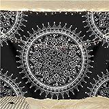 mengtianfushi234 Mandala Tapestry Wall Hanging Bohemian Decor Hippie Moon Tapestry Wall Fabric Carpet Blanket Wall Cloth Tapestries Yoga Travel-100X70CM