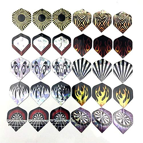 Gather together 12pcs Reflective 6/8/9/12/30 Pcs PVC Laser Dart Wing Darts Flights Durable Nice Dart Flights Set