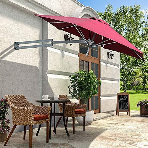 Paraguas retráctiles plegables paraguas paraguas al aire libre parasol romano paraguas al aire libre paraguas paraguas medio lado contra la pared paraguas impermeable redondo con protección UV
