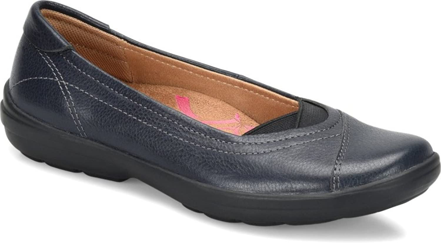 Comfortiva Womens Renee Leather Closed Toe Ballet Flats