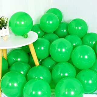 100Pcs Green Party Balloons 10 Inch Green Balloon Light Green Latex Round Ballons for Party Birthday Wedding Graduation An...