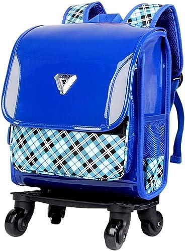 HCC& 360 Degrés Tourner Sac à Dos Scolaire - Trolley Schoolsac Imperméable De Plein Air en Voyageant sacage avec Amovible Tirez La Tige 6-12 Ans ZG-8468