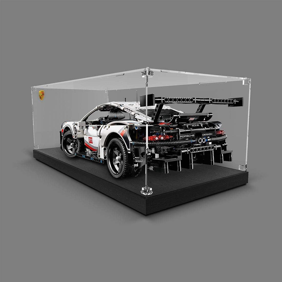 Ohne Modell Kit Giplar Acryl Vitrine Kompatibel Mit Lego 42096 Technic Porsche 911 RSR Showcase Display Case Haudstaub Gesch/ützt Schaukasten