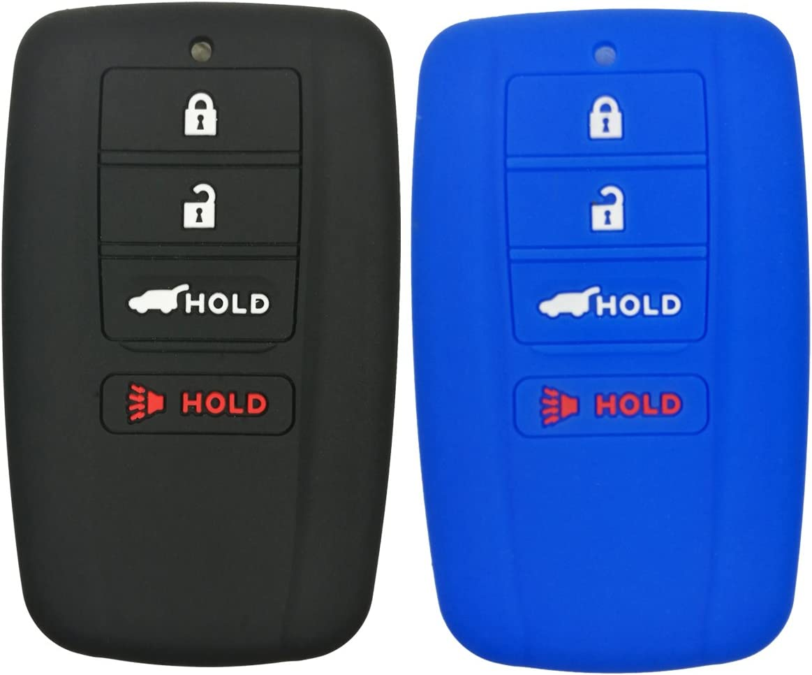 2Pcs Coolbestda Silicone Smart Key Fob Ranking TOP10 Skin Cover Protector Max 56% OFF Keyl