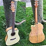 SUNXK 41 Pulgadas de Gama Media luz Guitarra acústica Spruce Guitarra diapasón (Color : N Wood Color, Size : 41 Inch)