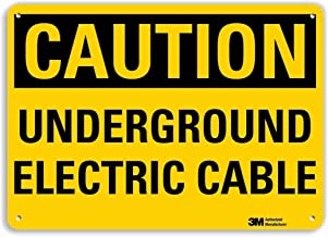 "SmartSign ""Caution - Underground Electric Cable"" Sign 
