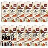 LIMA - Bebida sustitutiva de la leche original bIOLÓGICa - ECO-Pack 12 unidades de 1 litro (Avena Sin Gluten)
