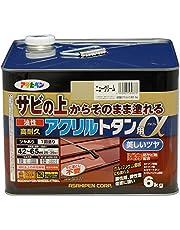 アサヒペン 油性高耐久アクリルトタン用α 塗料 6kg ニュークリーム