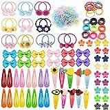 VEGCOO 628 Stück Kleines Mädchen Haarschmuck Set,Haargummis, Süße Baby Haarspange, Bobby Pin, Geeignet für Babys, Kinder und Mädchen