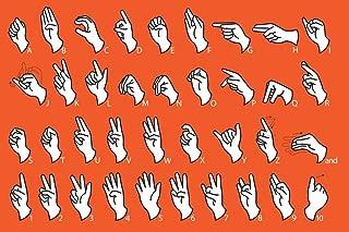Language Alphabet Communication Educational Chart Laminated Dry Erase Sign Poster 18x12