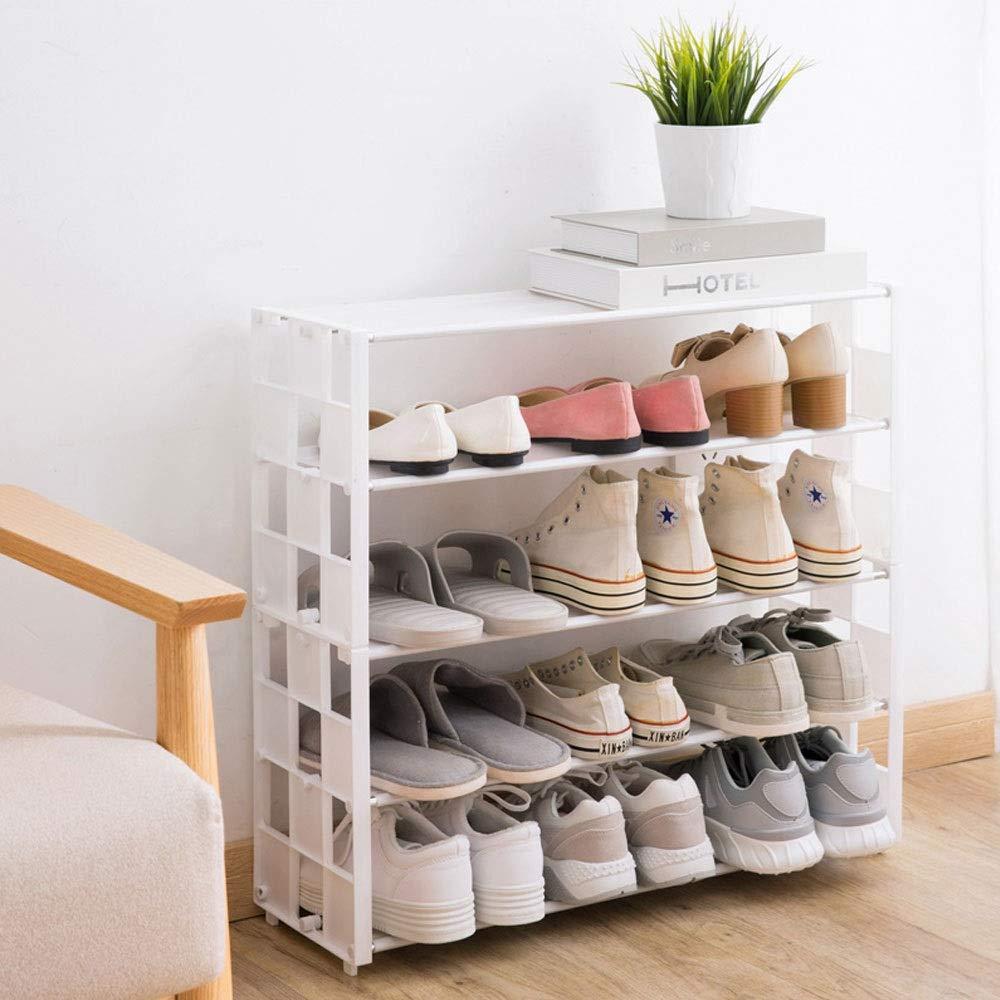 WJL Zapato de Almacenamiento de 8x24 Pulgadas Simple Viento Creativo de m/últiples Capas de Tela no Tejida Montaje Simple de Comida Vegetariana Color : Pink