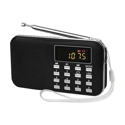 TOOGOO (R)Mini Radio FM Portatile Digitale Haut-Parleur USB Micro SD TF Carte Mp3 Musique Lettore NOIR