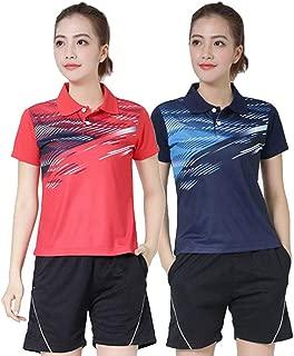 【 上下セット 】monoii 卓球 ユニフォーム かわいい レディース トレーニング ゲームシャツ 練習 ゲーム ウェア 半袖 女性 練習着