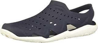Crocs Swiftwater Wave Mens Sandal, Color: Black/Pearl White, Size: 10