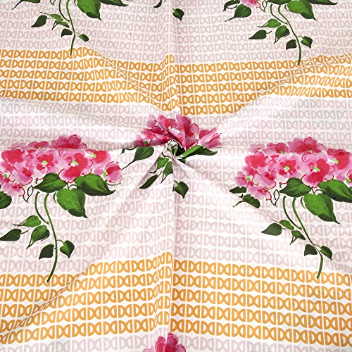 Bombay Dyeing Cynthia 120 TC Polycotton Double Bedsheet with 2 Pillow Covers - Pink