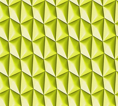 Livingwalls Vliestapete Harmony in Motion by Mac Stopa Tapete grafisch 3D-Optik 10,05 m x 0,53 m grün Made in Germany 327085 32708-5