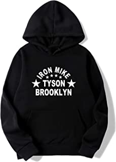 luzReyes Mens Iron Mike Tyson Brooklyn Boxing Gym Hoodie Sweater