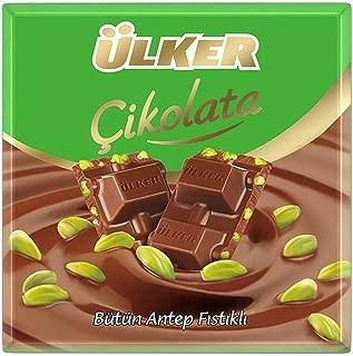 Ulker Turkish Milk Chocolate with Pistachio (Sutlu Fistikli Cikolata) 6 x 70 Gr