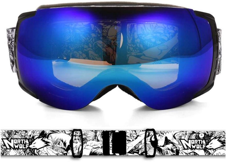 He-yanjing Snowboardbrillen, Anti-Fog Anti-Fog Anti-Fog UV-Schutz, UV-Schutz, Sportbrillen, Skibrillen für Männer und Frauen (Farbe   B) B07JWH87L2  Qualität zuerst d81ab1