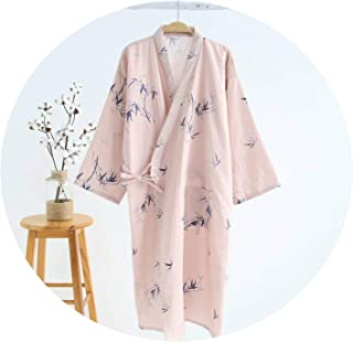Kimono Robes Women 100% Gauze Cotton Long Robe Cozy Japanese Summer Kimono Bathrobes