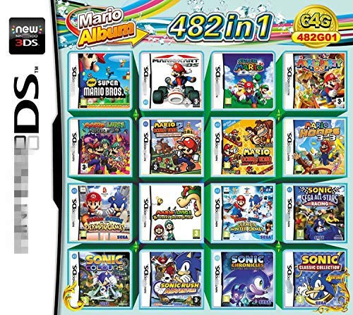 482 giochi in 1 NDS Game Pack Cartuccia Super Combo per NDS DS 2DS NDSL NDSI Nuovo 3DS XL (482)