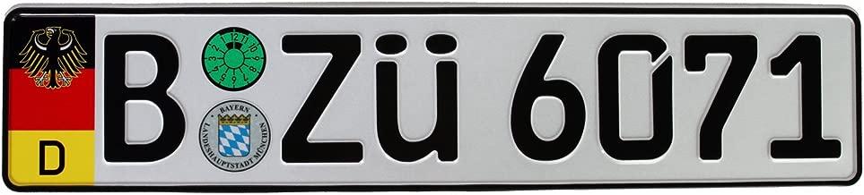 German Euro Plate with German Flag & Coat of Arms - Random Characters