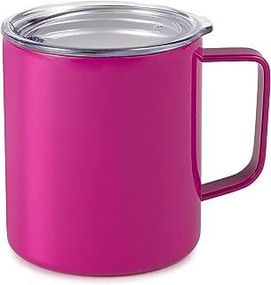 Maars Drinkware 79707-1PK Townie Stainless Steel Insulated Coffee Mug Double Wall Vacuum Sealed Tumbler-14 oz, 1 Pack, Fuchsia