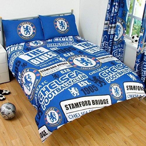 Chelsea Official Patch Double Duvet Cover Set Blue by Spot On