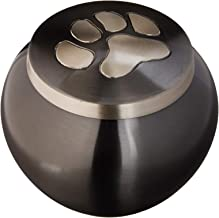 Best Friend Services Odyssey Series Single Paw Slate Cremation Urns for Pets - Handmade Pet Memorial Slate Color - Medium