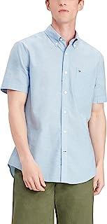 Men's Short Sleeve in Custom Fit Button Down Shirt