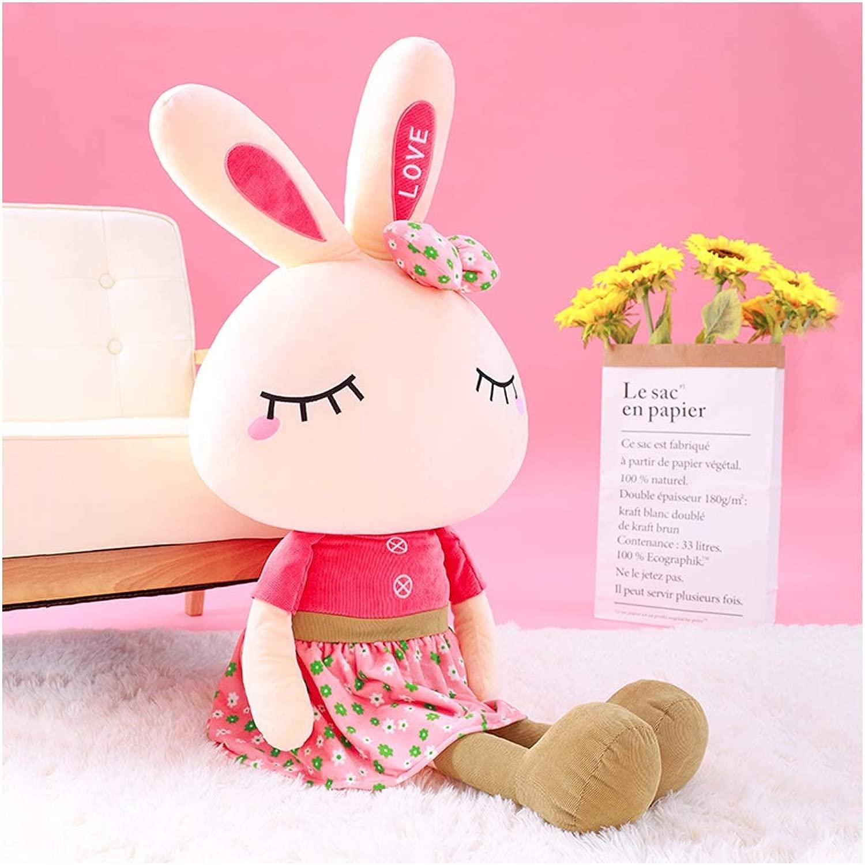 CHENTAOCS Simpatico Coniglio Peluche Femmina Coniglio Bianco Ragbambola Bambino Meng Cuscino Regalo Compleanno Bambola Bambola Ragazza ( Coloree   rosso , Dimensione   160cm )
