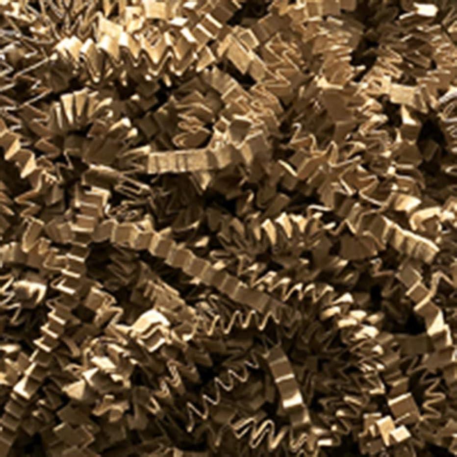 Crinkle Cut Paper Shred Filler (1 LB) for Gift Wrapping & Basket Filling (Kraft)