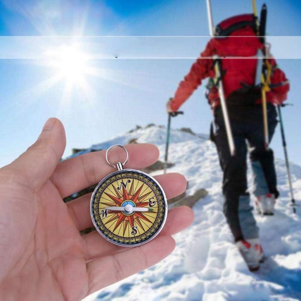 Tragbarer Taschenkompass für Camping Wandern Outdoor-Sportarten NavigationRSDE
