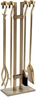 Pilgrim Home and Hearth 18086 Sinclair Fireplace Tool Set, Burnished Brass