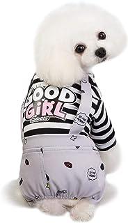 Aosong Aosong Hund Jumpsuit Kleiner Hund Jumpsuit Pyjama, Weiche Baumwolle Strampler Welpen Schlafkleidung, Süßes Hemd Mit Hose Haustier Hund Katzen Vier Beine, Für Kleine Hunde Mittlere Hunde