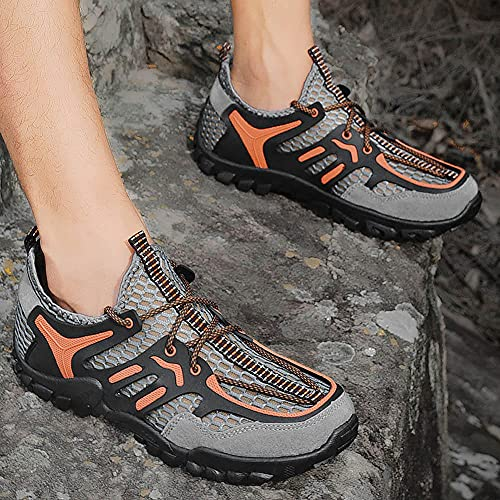 Zapatos de Piscina,Calzado de Senderismo para Hombre Calzado Deportivo Resistente al Desgaste-1_46,Cómodo