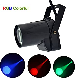 Mini Portable 5W RGB LED Pinspot Light Strong Spotlights Decoration Show Beam Lamp Stage Lighting LE-M01