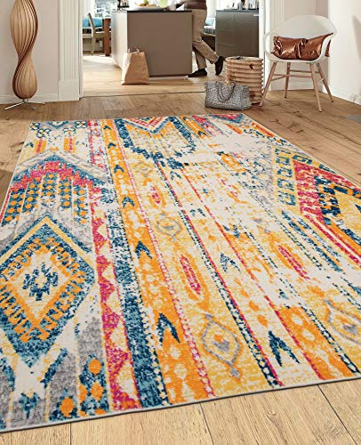 Rugshop Sky Collection Bohemian Area Rug 5' x 7' Multi